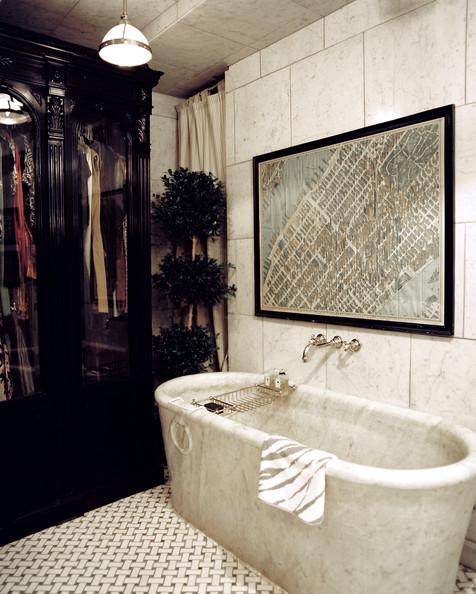 Bath+Tub+Basket+weave+tile+paired+oval+tub+_N6ActTfc6bl